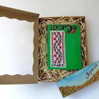 Подарочный набор Блокнот и магнитик, Блокнот в клетку, Прикольный магнитик, Сувенир блокнот