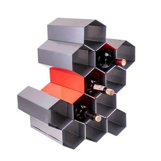 "Подставка для бутылок вина ""Серебрянная сота"""