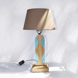 Светильник из дерева и эпоксидной смолы, Эпоксидная лампа, Ночник из эпоксидной смолы
