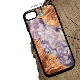 Чехол из дерева и эпоксидной смолы для айфона 7 8 iPhone 7 8 X XS XR 11 Pro Max