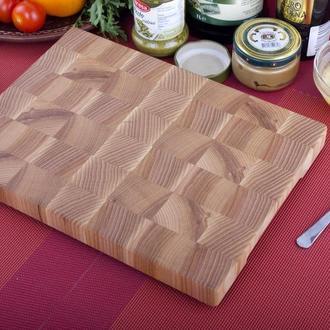 Кухонная торцевая разделочная доска 30х20 см из ясеня