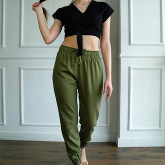 Льняные женские брюки, штаны для йоги Casual Linen Pants