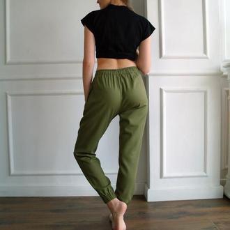 РАСПРОДАЖА коллекции 2020! Летние льняные женские брюки, штаны для йоги Casual Linen Pants