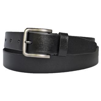 Ремень черный кожаный мужской брючный классический Boris33