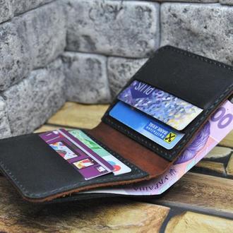 Мужской тонкий кошелек из кожи K61-0+210