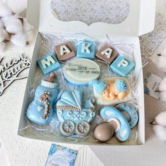 Набор сувенирного мыла к рождению мальчика Макара