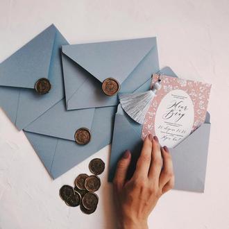 Bohemian Кисточки Свадебные приглашения / подарочные сертификаты запрошення сертифікат