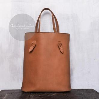 Женская сумка-шоппер из натуральной кожи