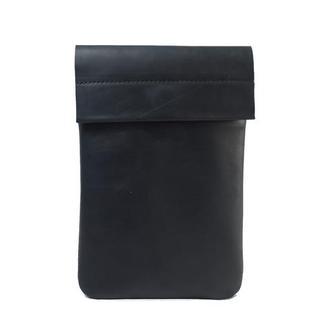 Кожаный чехол для iPad на хлястике. 03002/черный