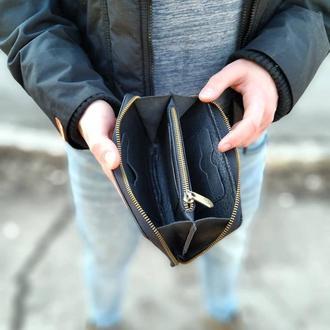 Мужской клатч , кошелек , портмоне из натуральной кожи VSK 20