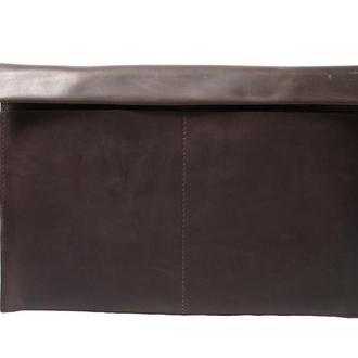 Кожаный чехол для Macbook на двух кнопках. 03009/коричневый