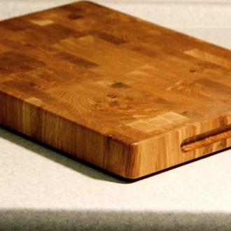 Кухонная торцевая разделочная доска из дуба. Торцевые разделочные доски. 400*250*30