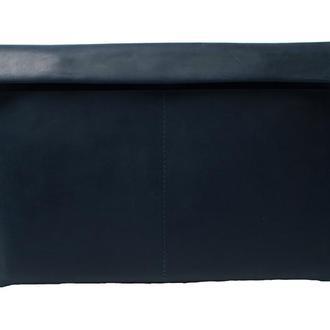 Кожаный чехол для Macbook на двух кнопках. 03009синий