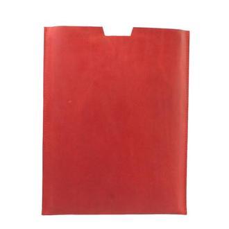 Компактный чехол для Macbook из натуральной кожи. 03011/красный