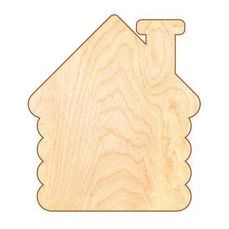 Основа для Бизиборда Домик 42х37 см (фанера 0,8 см) Заготовка Дом Основа для Бізіборда Будиночок ФАН