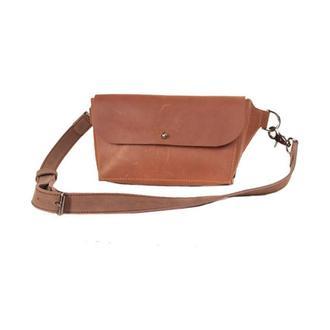 Сумка поясная из натуральной кожи Belt bag