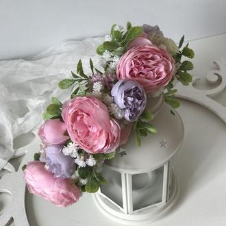 Венок розово-лиловых цветах. Венок розово-лиловых цветах.