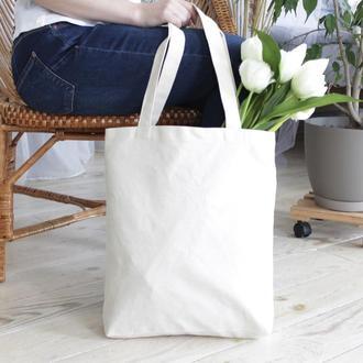 Шоппер, Белая эко сумка, Женская сумка, Хлопковый шоппер