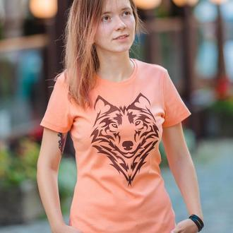 Футболка женская «волк» batiar
