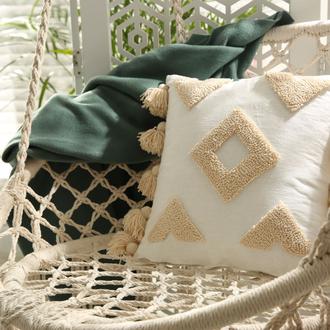 Геометрическая декоративная стильная подушка