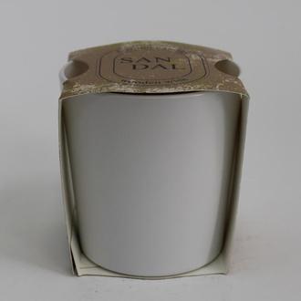 Аромасвечка в белом стакане Сандал