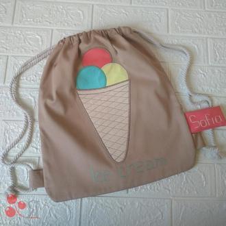 Рюкзак с мороженым