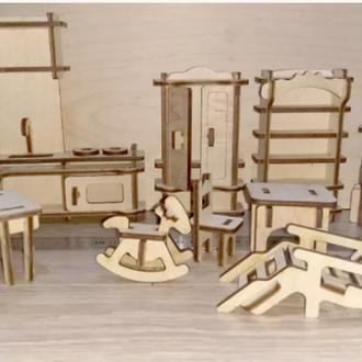 Набор мебели для кукол (13 элементов)