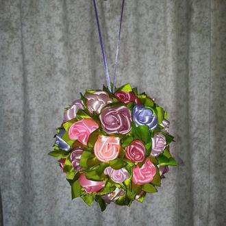 цветочный декоративный шар-подвеска