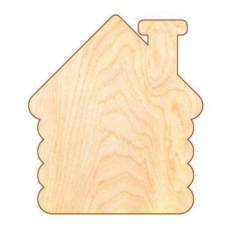 Основа для Бизиборда Домик 75х65 см (фанера 0,8 см) Заготовка Дом Основа для Бізіборда Будиночок