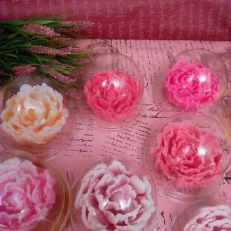 Мыльные букеты и наборы/ розы и півони под куполом