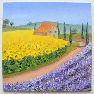 Соняшники Провансу, картина маслом з серії Прованс