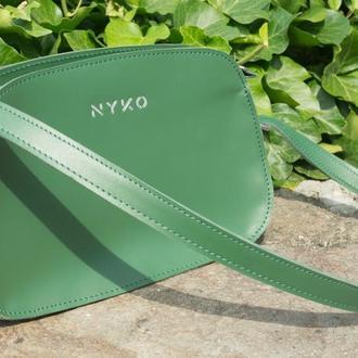 Трендовая сумка багет (green)