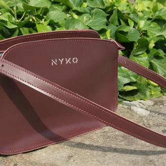 Трендовая сумка багет (burgundy)