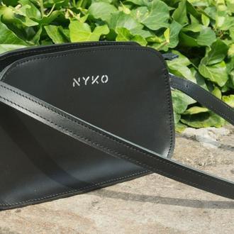 Трендовая сумка багет (black)