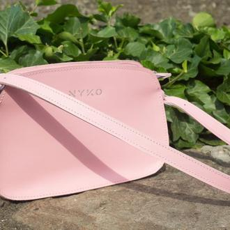 Трендовая сумка багет (rose)