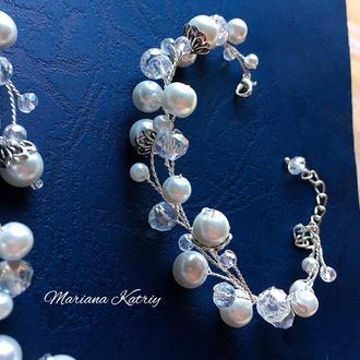 Браслет для невесты, свадебный браслет, набор украшений для невесты