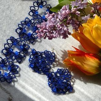 Сережки і браслет 'Синій бриз'