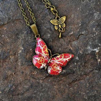 Кулон Butterfly в стиле стимпанк ( в наличии 1 шт.)
