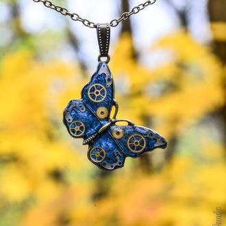 Бабочка весенний подарок в стиле steampunk (в наличии 1 шт.)
