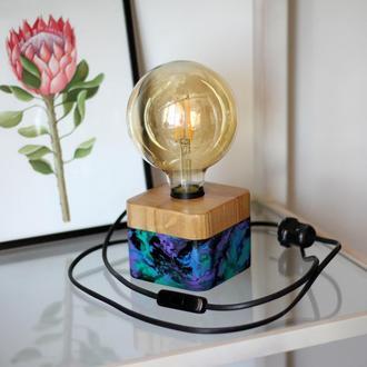 Настольный светильник в стиле лофт. Космос.Лампа Эдисона.Декор в дом.Подарок друзьям.