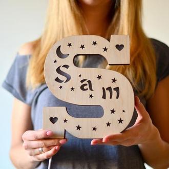 Светильник с именем ребенка - Sam