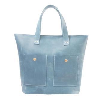 Женская сумка из натуральной кожи. 07006/голубой
