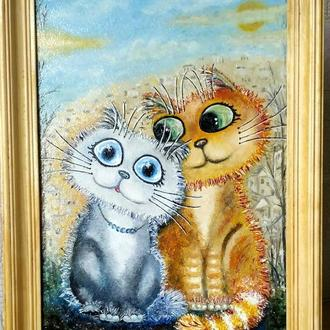 """Картина маслом""""Солнышко мое"""""""