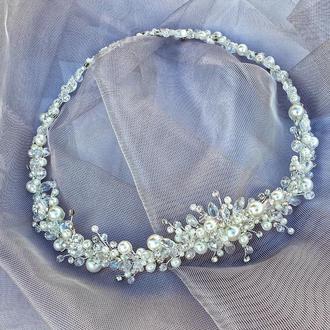 Свадебное украшение для волос,венок в прическу, украшение в прическу невесте