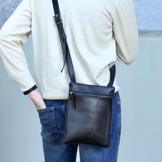 Мужская сумка через плечо, стильная кожаная небольшая мужская сумка планшет