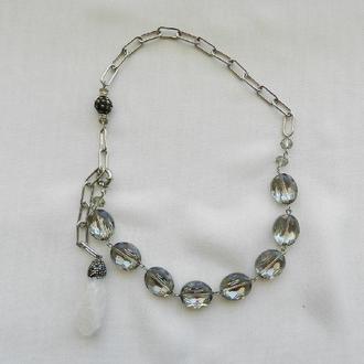 Масивні намиста , велика ланцюг на шию , з камінням намисто , кольє, ланцюжок з підвіскою