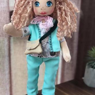 Лялька Тільда блакитна
