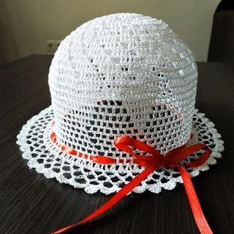 Шляпка детская/ шляпка белая летняя/ капелюшок дитячий/капелюшок для дівчинки