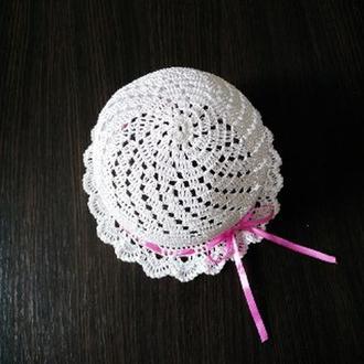 капелюшок гачком для дівчинки/ шляпка вязанная для девочки