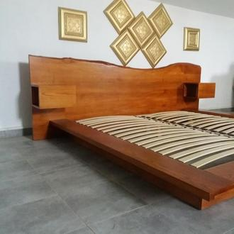 Дубовая кровать с слеба, кровать слэб